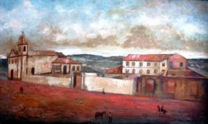 Quadro Porto Alegre Primeira instalação da Santa Casa 1840