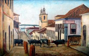Quadro Porto Alegre Rua do Rosário 1890
