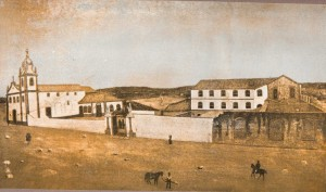 Quadro Santa Casa(Único hospital de Porto Alegre na época) e Igreja sécXIX
