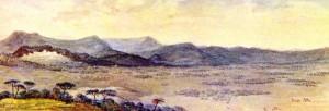 Quadro Várzea entre Tramandaí e Vila da Serra(Osório)(Aquarela Debret)