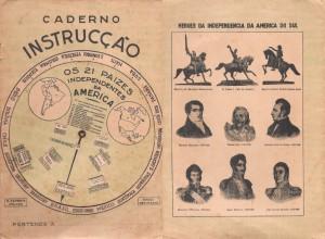 Antigo caderno de instrução