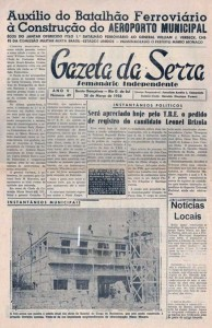 Bento Gonçalves Reportagem construção do Quartel do Corpo de Bombeiros Av Osvaldo Aranha(acervo Albino Matos Oliveira) 03-1958