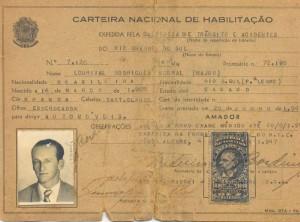 Carteira Nacional de Habilitação 1947