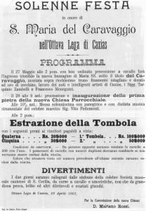 Caxias do Sul Ana Rech Programa Festa da Padroeira 1901