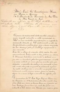 Ofício Presidente Província 1885 1