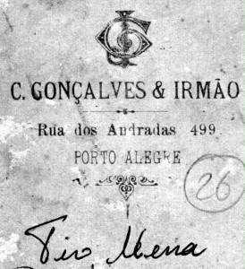 Porto Alegre C Gonçalves & Irmão Rua dos Andradas