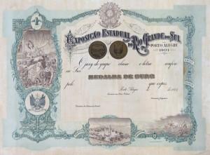 Porto Alegre Diploma Exposição Estadual do Rio Grande do Sul