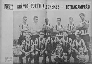 Porto Alegre Time Grêmio conquistou tetracampeonato gaúcho(1956-57-58-59) 1959