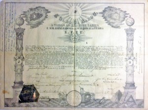 São Borga Documento Maçônica 26-06-1882
