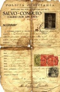 Salvo-Conduto concedido à Alcebíades Meirelles 30-07-1938