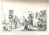 Negro vendedor de carvão Vendedoras de milho