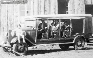 Guaporé Primeiro ônibus propriedade da família Lunardi Linha Guaporé-Muçum 1931