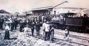 Ijuí Trem chegando na Inauguração da Estação 11-10-1911