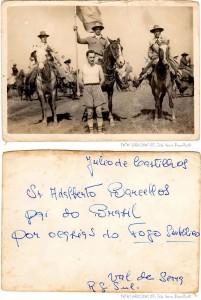 Júlio de Castilhos Chegada do fogo simbólico(acervo família Barcellos) déc1930