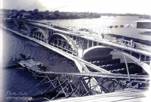 Jaguarão Construção Ponte Internacional Mauá fronteira com Rio Branco no Uruguai déc1920