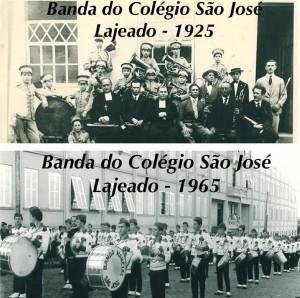 Lajeado Banda do Colégio São José(acervo Ageu Kehrwald) 1925 e 1965
