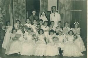 Lajeado Formatura Jardim de infância Colégio Madre Bárbara(acervo Ageu Kehrwald) 1954