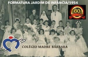 Lajeado Formatura do Jardim de Infância Colégio Madre Bárbara 1954