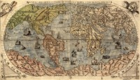 Old world map 1500