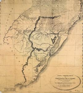 Mapa Capitania de São Pedro 1777