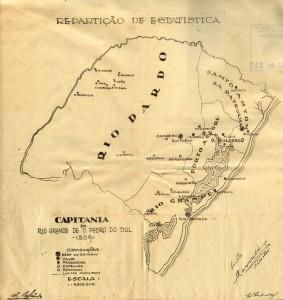 Mapa Capitania do Rio Grande de São Pedro 1809