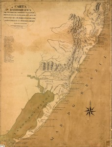 Mapa Carta hidrográfica Província de São Pedro do Rio Grande(Brigadeiro Francisco João Rocio) 1778