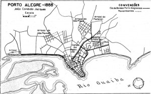 Mapa Porto Alegre 1888
