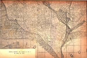Mapa Porto Alegre Enchente limite máximo águas em maio de 1941