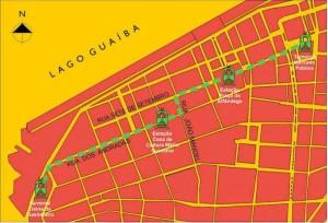 Mapa Porto Alegre Estações Bondes Centro