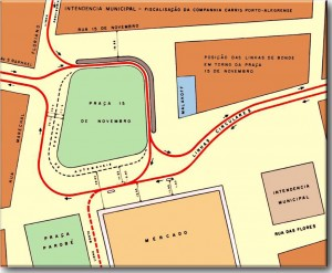 Mapa Porto Alegre Linhas Projetadas Bonde(acervo Ronaldo Fotografia) 2