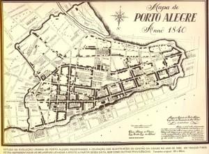 Mapa Porto Alegre Mapa 1840