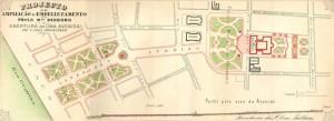 Mapa Porto Alegre Projeto ampliação Praças da Alfândega e Matriz 1909