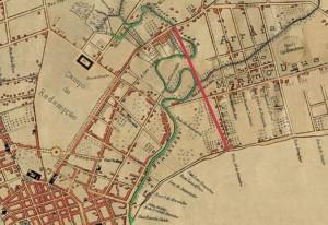 Mapa Porto Alegre Riacho e Canalização(acervo Ronaldo Fotografia)