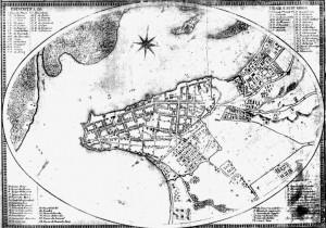 Mapa Porto Alegre fortificações