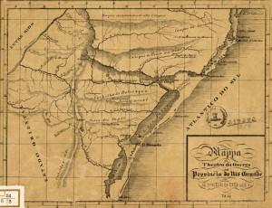 Mapa Província do Rio Grande 1839