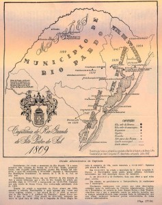 Mapa Rio Grande do Sul 1810