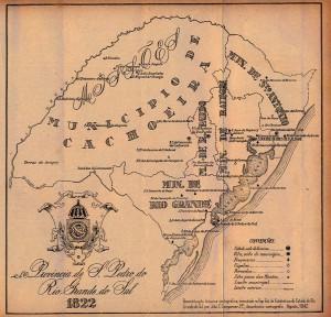 Mapa Rio Grande do Sul 1822