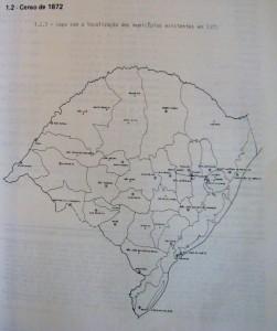 Mapa Rio Grande do Sul censo 1872