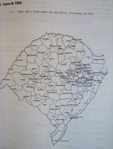 Mapa Rio Grande do Sul censo 1950