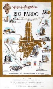 Mapa histórico Rio Pardo(Barboza Leite) 1953
