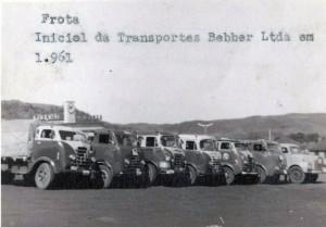 Marau Frota inicial de caminhões de Transportes Bebber 1961