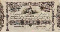 Banco da Província RS 10000 réis 1859