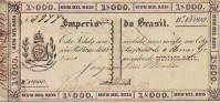 Cédula para troco da moeda de Cobre 1000 réis Província de MG 1833