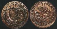 Moeda 20 réis carimbo Piratini 1835 D João V 1749