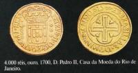 Moeda 4000 réis D Pedro II Casa da Moeda RJ 1700