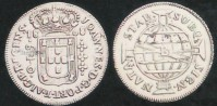 Moeda 640 réis D João Príncipe Regente Casa da Moeda BA 1808