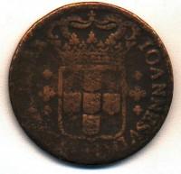Moeda Brasil Cobre 40Réis 1722 verso