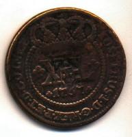 Moeda Brasil Cobre 40Réis 1757 frente
