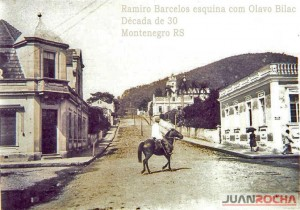 Montenegro Rua Ramiro Barcelos esq Rua Olavo Bilac déc1930 (1)