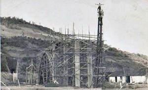Muçum Construção da ponte ferroviária déc1960 1